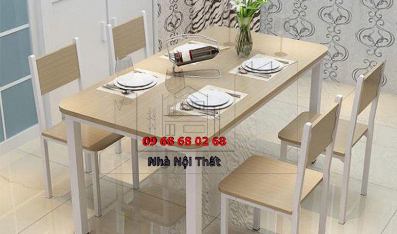 Bàn ghế ăn gỗ công nghiệp 010