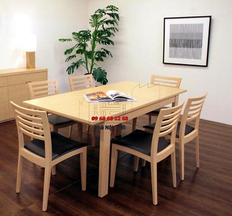 Bàn ghế ăn gỗ công nghiệp 012