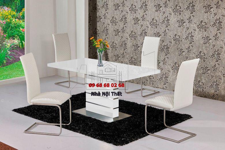 Bàn ghế ăn gỗ công nghiệp 017