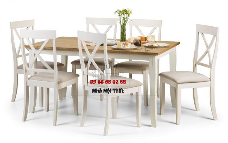 Bàn ghế ăn gỗ công nghiệp 018
