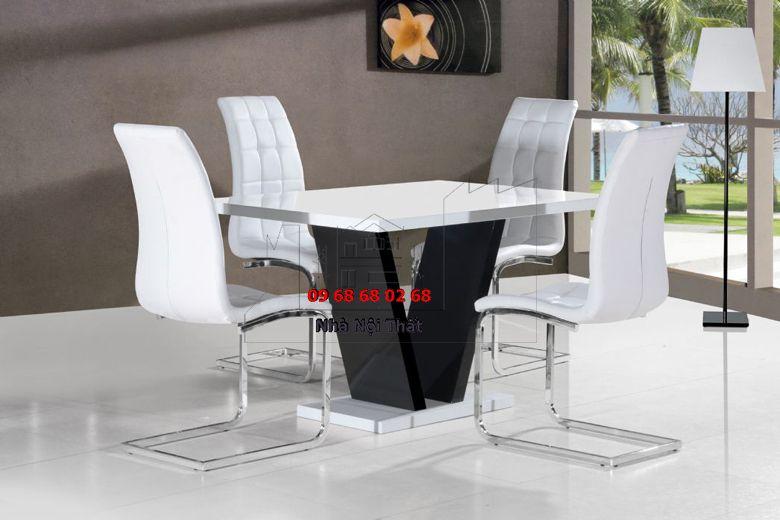 Bàn ghế ăn gỗ công nghiệp 020