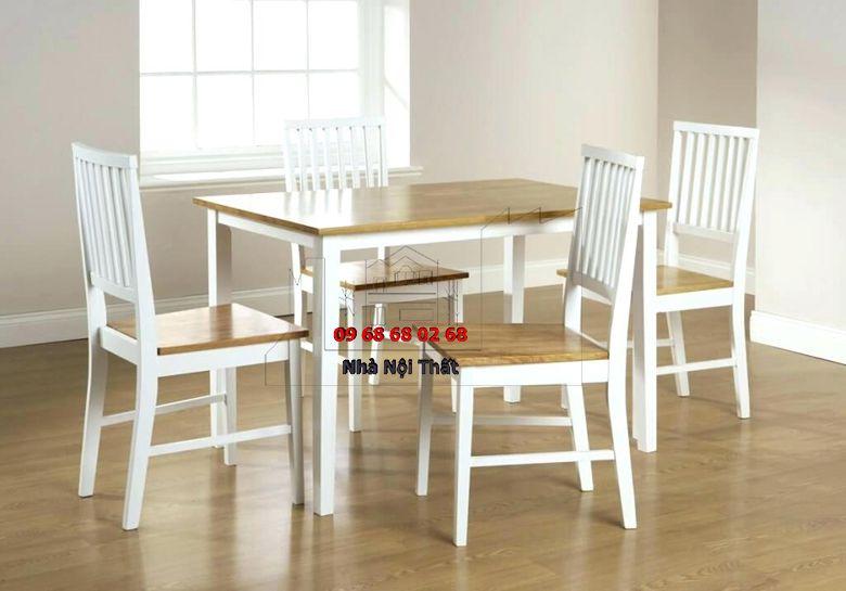 Bàn ghế ăn gỗ công nghiệp 025