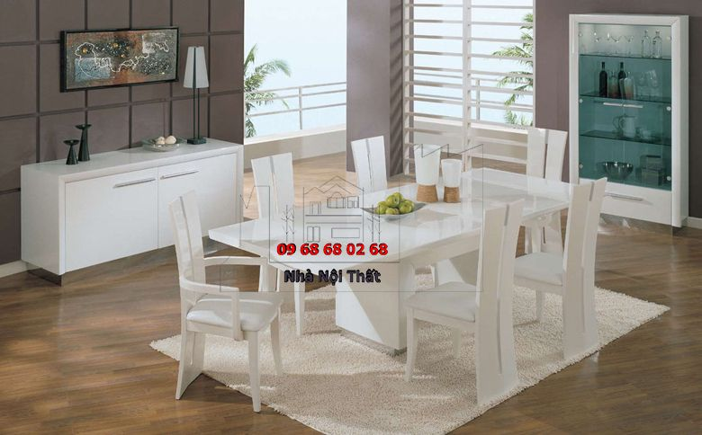 Bàn ghế ăn gỗ công nghiệp 026