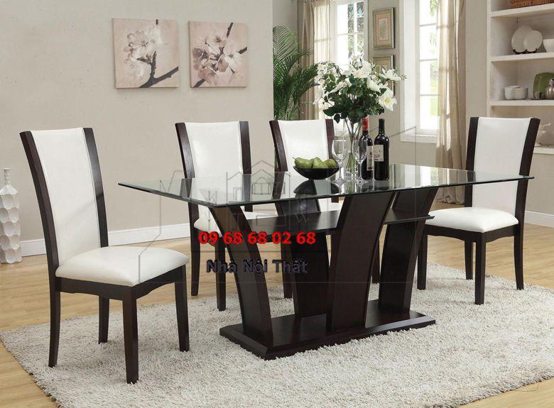 Bàn ghế ăn gỗ công nghiệp 027