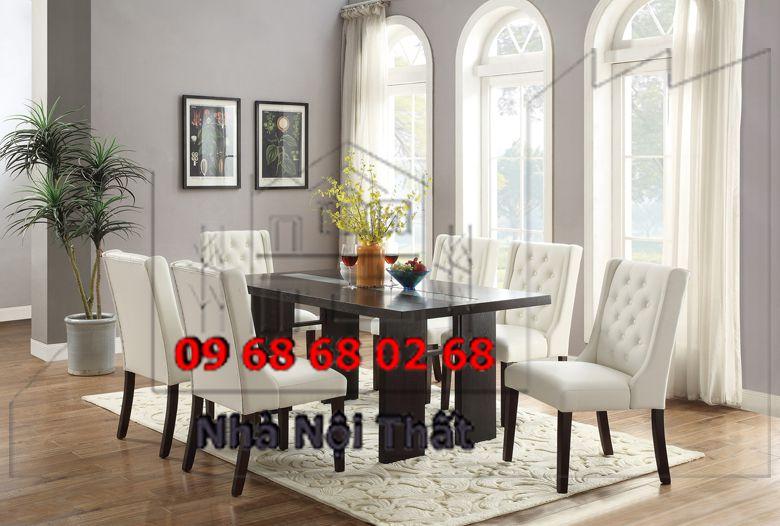 Bàn ghế ăn gỗ công nghiệp 028