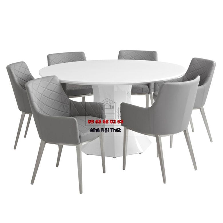 Bàn ghế ăn gỗ công nghiệp 030