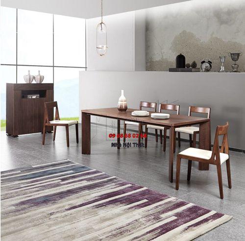 Bàn ghế ăn gỗ tự nhiên 003