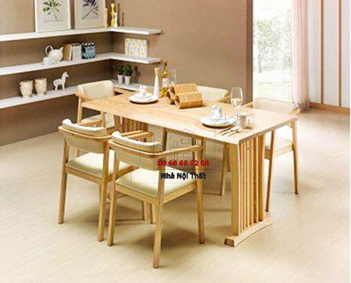 Bàn ghế ăn gỗ tự nhiên 009