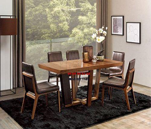 Bàn ghế ăn gỗ tự nhiên 010