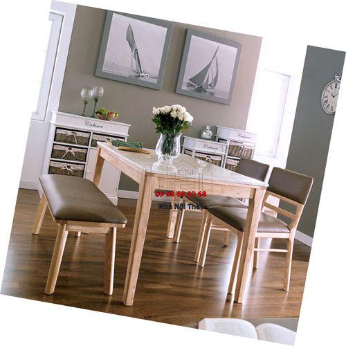 Bàn ghế ăn gỗ tự nhiên 011