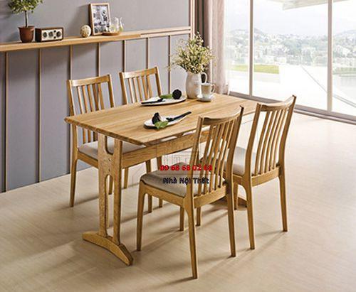 Bàn ghế ăn gỗ tự nhiên 013