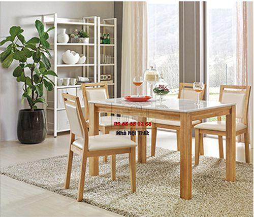 Bàn ghế ăn gỗ tự nhiên 014