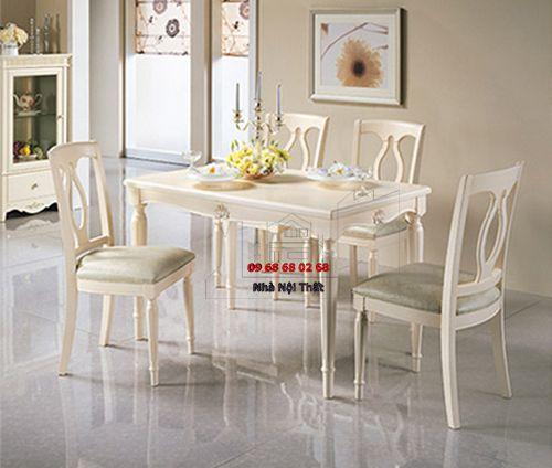 Bàn ghế ăn gỗ tự nhiên 015