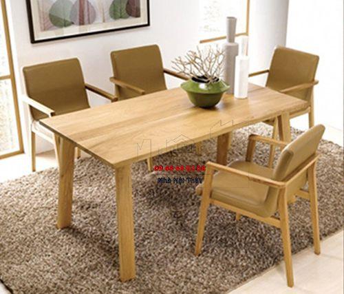 Bàn ghế ăn gỗ tự nhiên 017