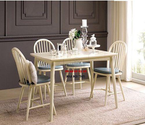 Bàn ghế ăn gỗ tự nhiên 018