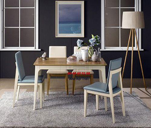 Bàn ghế ăn gỗ tự nhiên 020