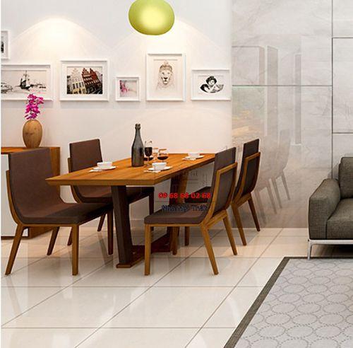 Bàn ghế ăn gỗ tự nhiên 021