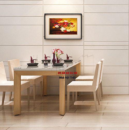 Bàn ghế ăn gỗ tự nhiên 026
