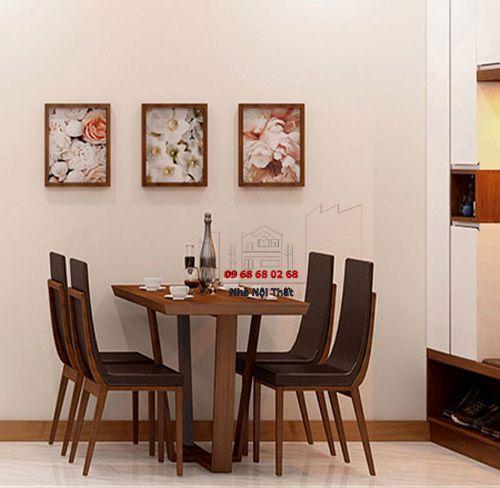 Bàn ghế ăn gỗ tự nhiên 028