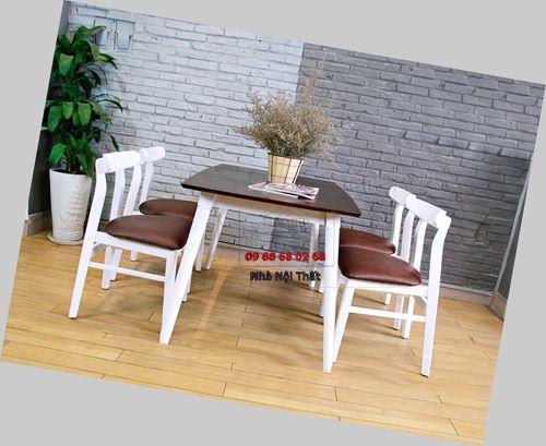 Bàn ghế ăn gỗ tự nhiên 030