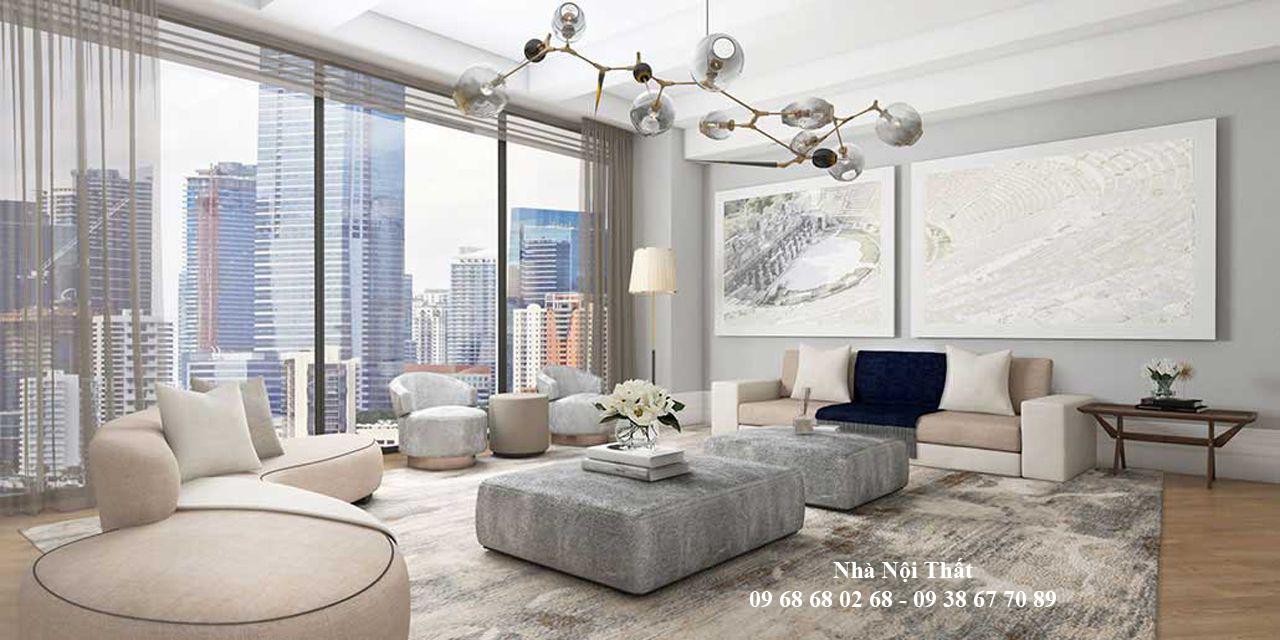 Mẫu nội thất phòng khách đẹp 002