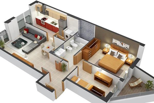 Mặt bằng bố trí nội thất cơ bản giá rẻ tại nội thất Thuận Thiên