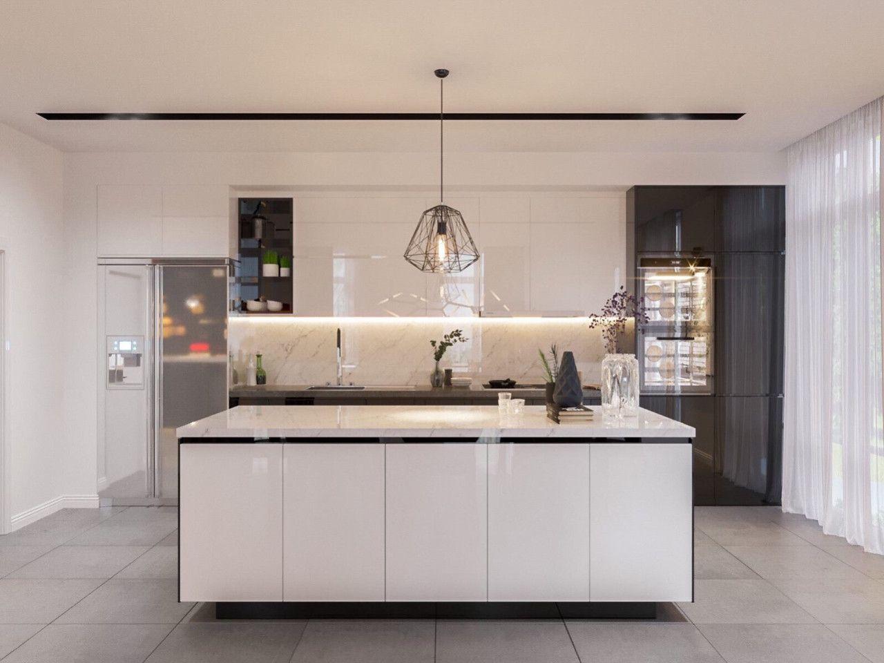 Thiết kế nội thất phong cách hiện đại - phòng bếp 001