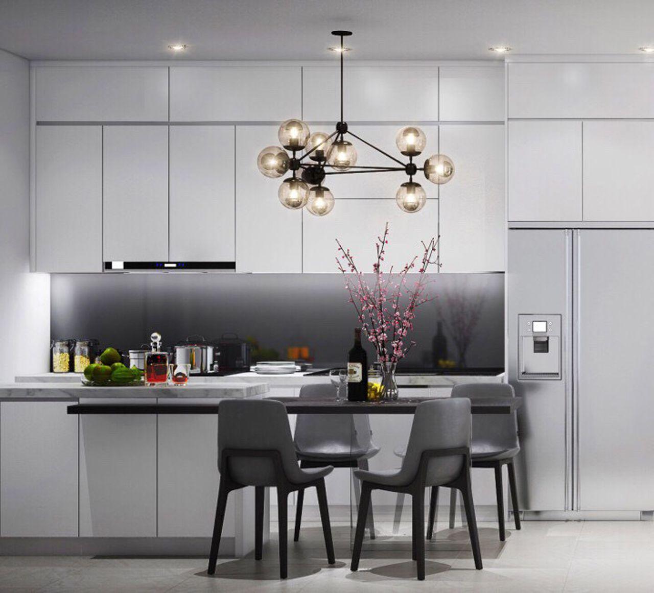 Thiết kế nội thất phong cách hiện đại - phòng bếp 003