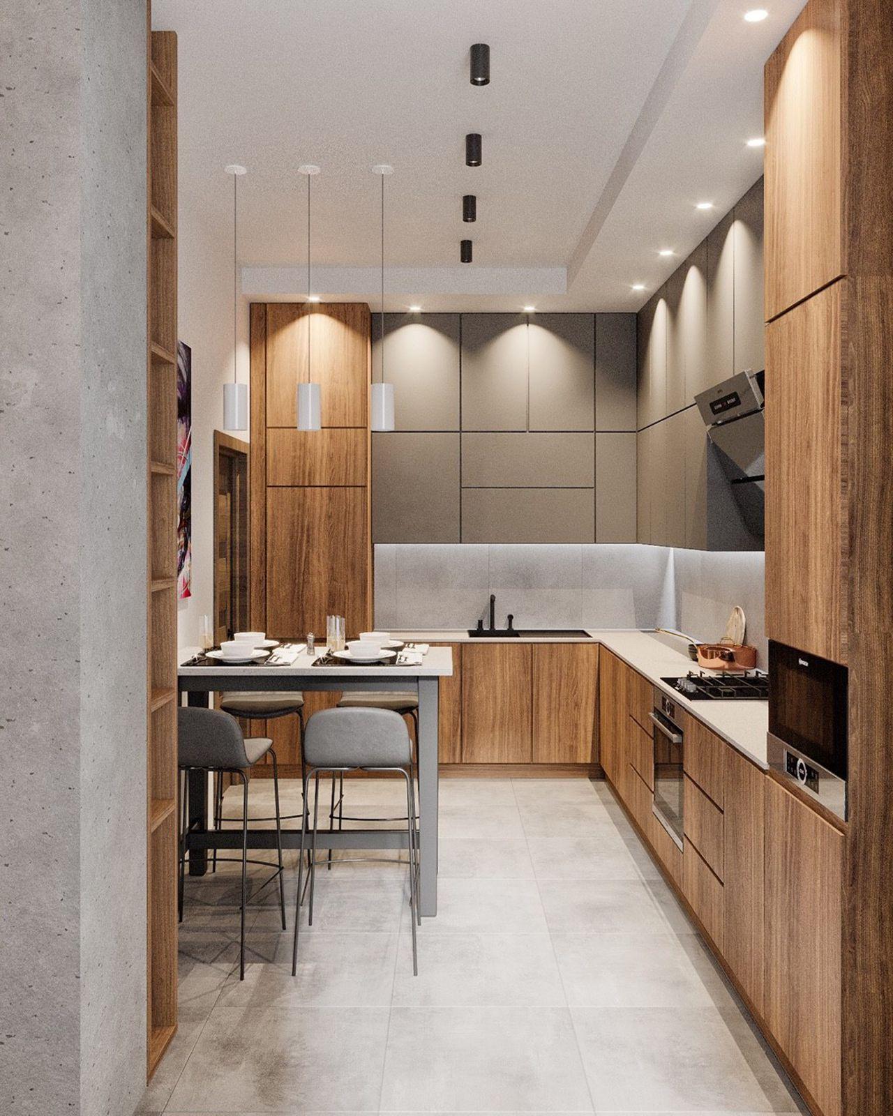 Thiết kế nội thất phong cách hiện đại - phòng bếp 004