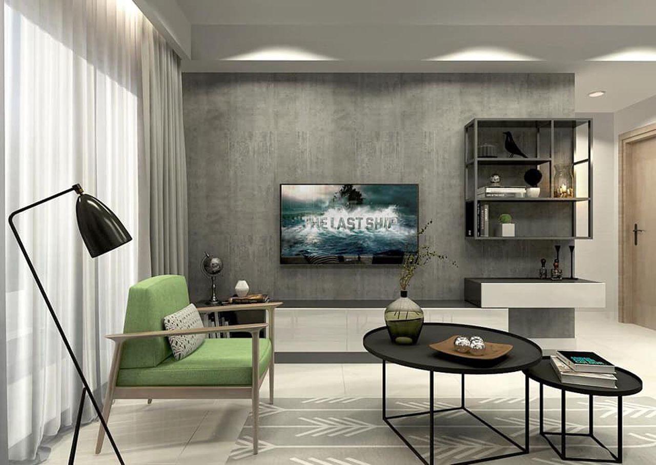 Thiết kế nội thất phong cách hiện đại - phòng khách 001