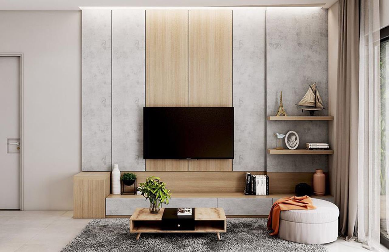 Thiết kế nội thất phong cách hiện đại - phòng khách 002