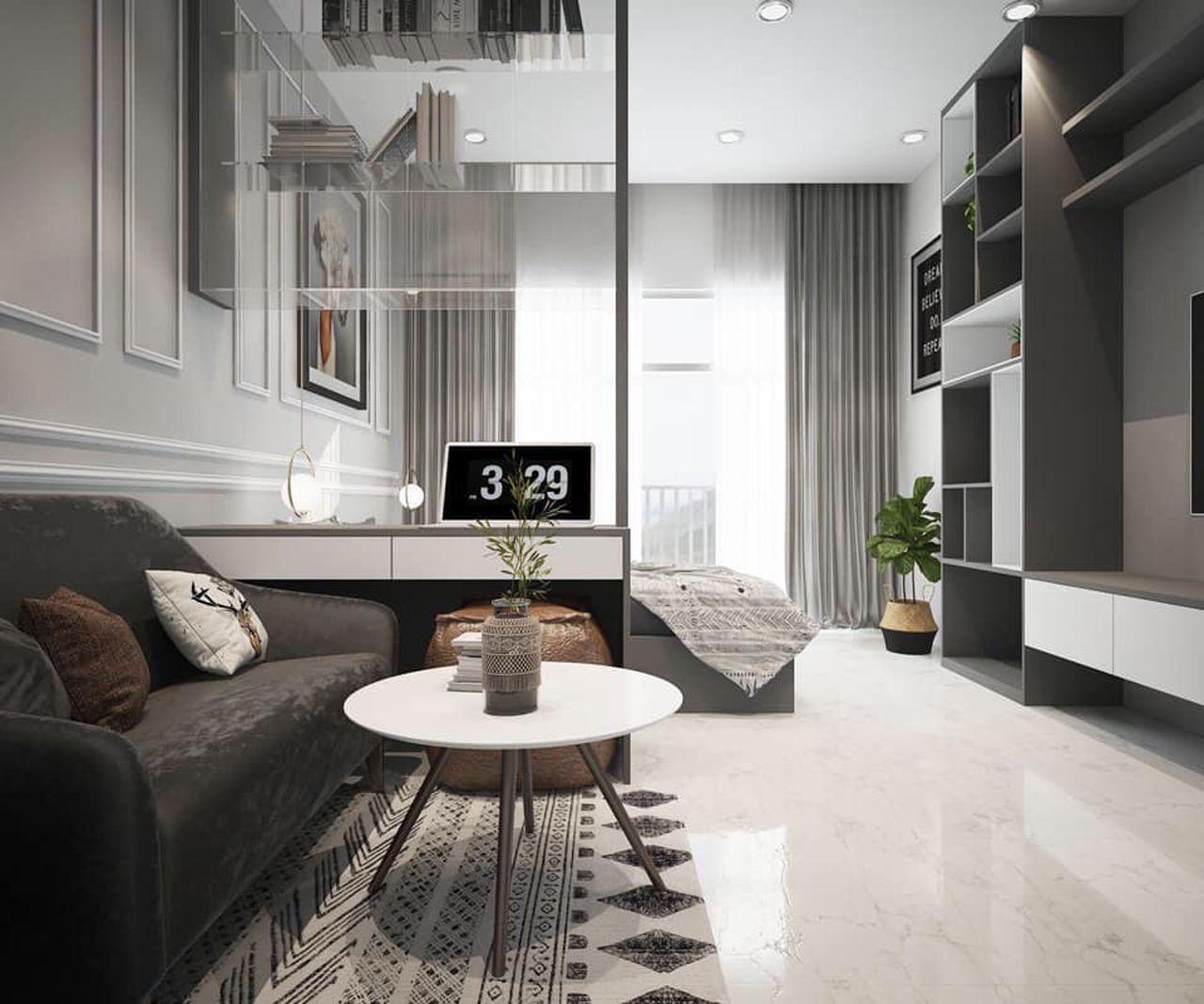 Thiết kế nội thất phong cách hiện đại - phòng khách 003