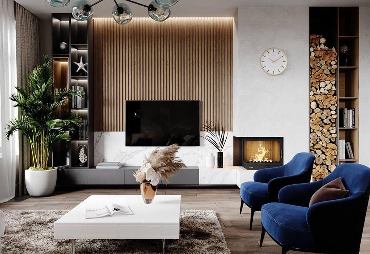 Thiết kế nội thất phong cách hiện đại - phòng khách 004