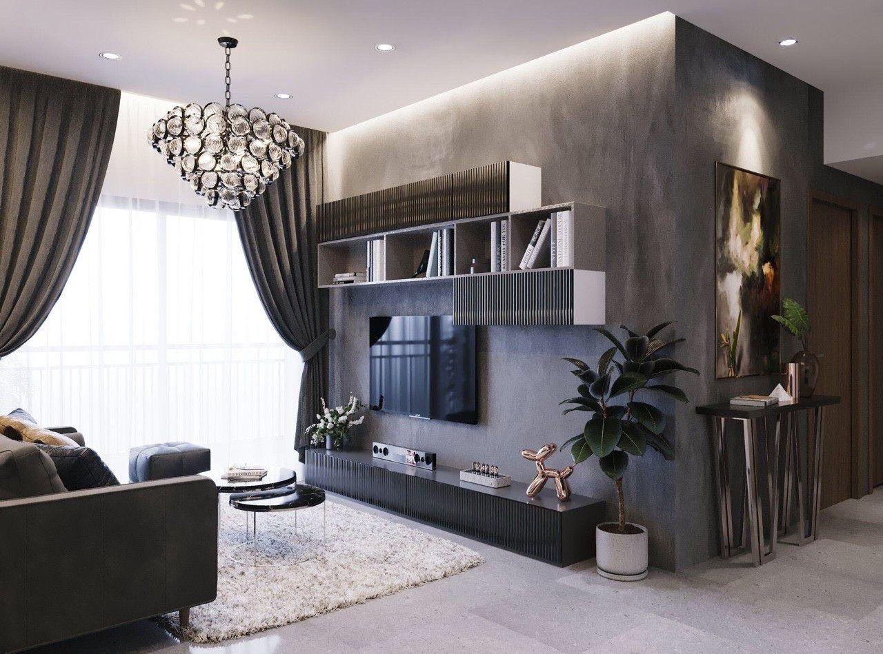 Thiết kế nội thất phong cách hiện đại - phòng khách 006