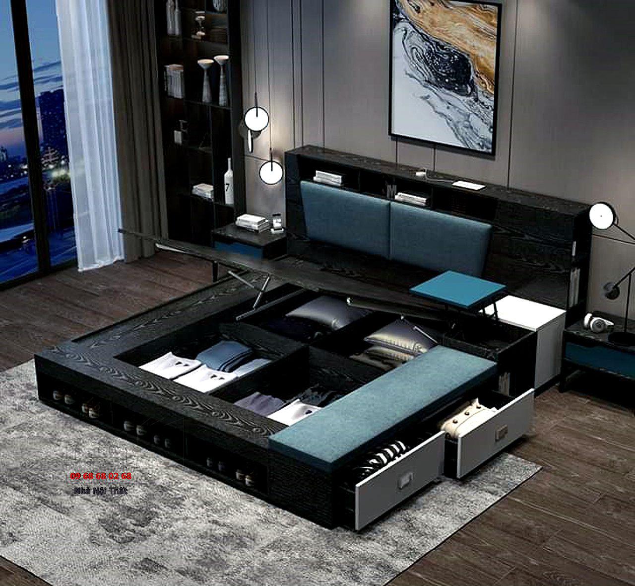 giường ngủ gỗ công nghiệp 001