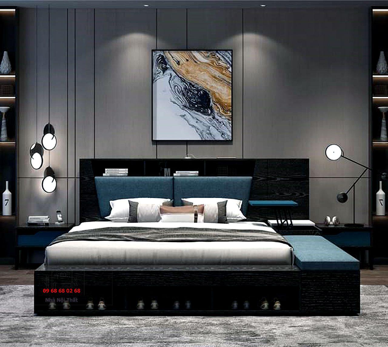 giường ngủ gỗ công nghiệp 002