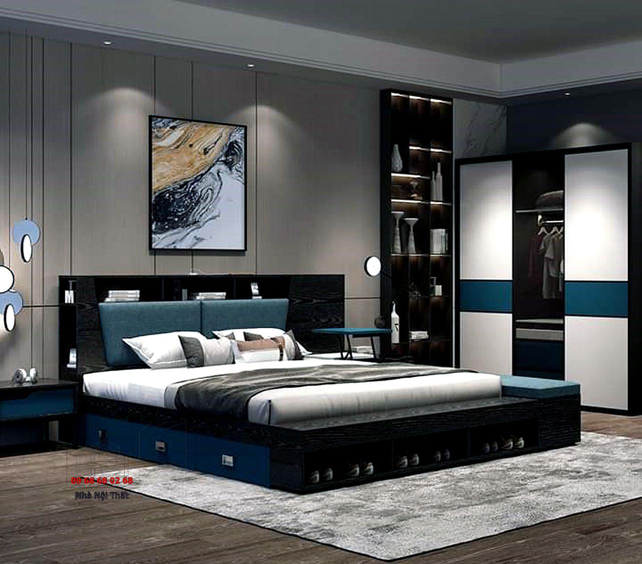 giường ngủ gỗ công nghiệp 005