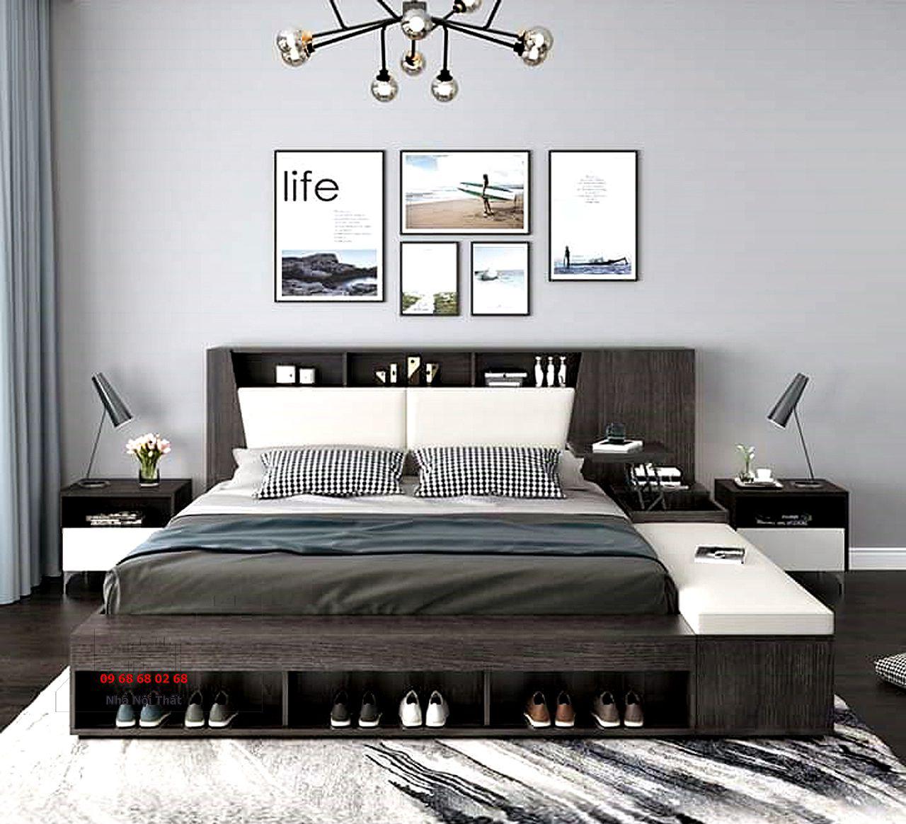 giường ngủ gỗ công nghiệp 007