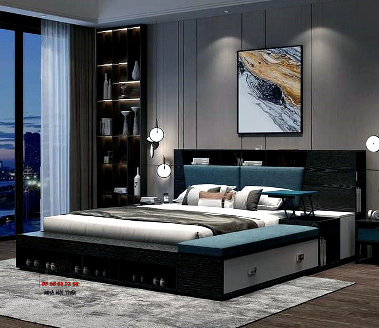 giường ngủ gỗ công nghiệp 008