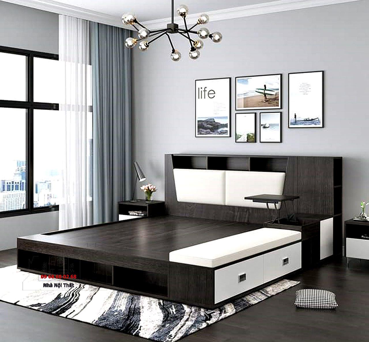 giường ngủ gỗ công nghiệp 009