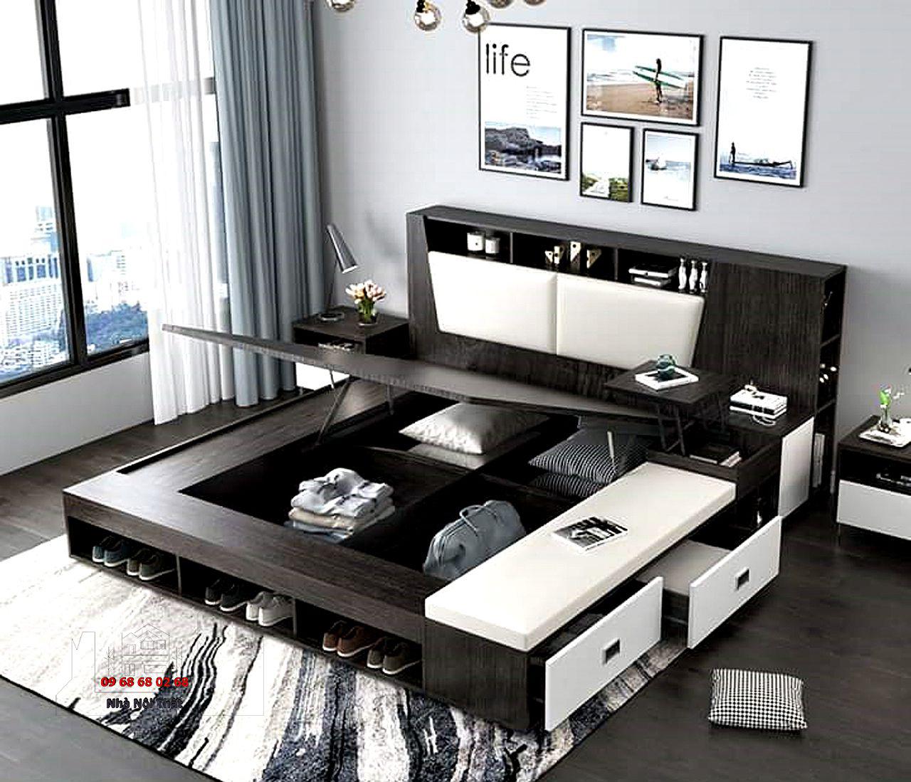 giường ngủ gỗ công nghiệp 010